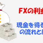 FXで現金を得るまでの4つの流れ(新規から決済まで)