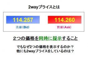 2wayプライスとは?FXの価格表示の意味と仕組みを詳しく解説します!