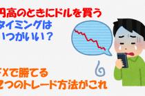 円高のときにドルを買うタイミングはいつ?FXで勝てる2つのトレード方法がこれ
